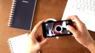 top view take a photography by smart phone video