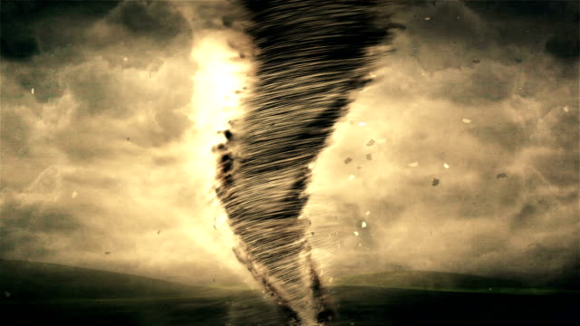 Tornado and Storm HD Animation video