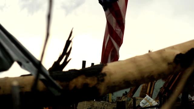 Tornado Damaged Flag video