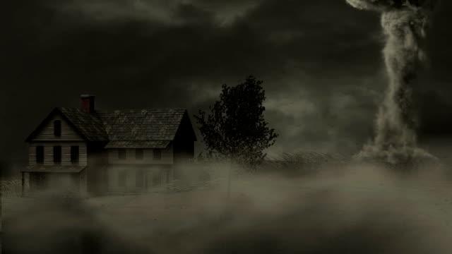 Tornado Speeds Past Farmhouse video