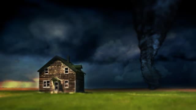 Tornado Twister and Farmhouse video