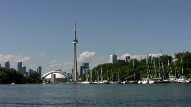 Toronto from the islands. video