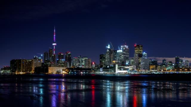 Toronto Skyline at night video