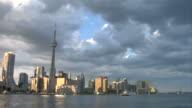 Toronto skyline Time lapse video