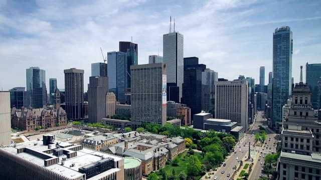 Toronto skyline video