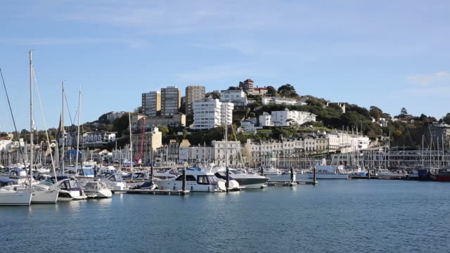 Torquay Devon UK with boats and yachts video