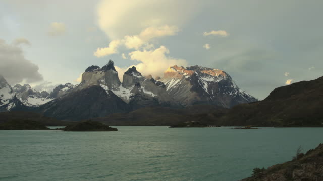 Torres del Paine national park. Chile. HD Timelapse video
