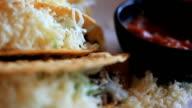 Tortila chips, salsa, appetizer, dip, mexican food video