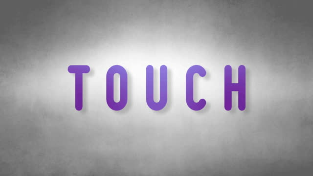 Touch headband. Text from sand. With black background video