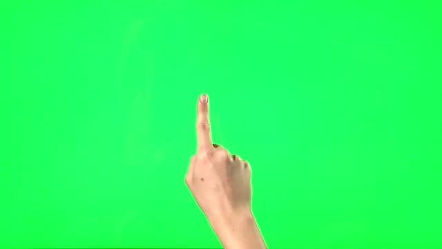 Touchscreen gestures - female hand video