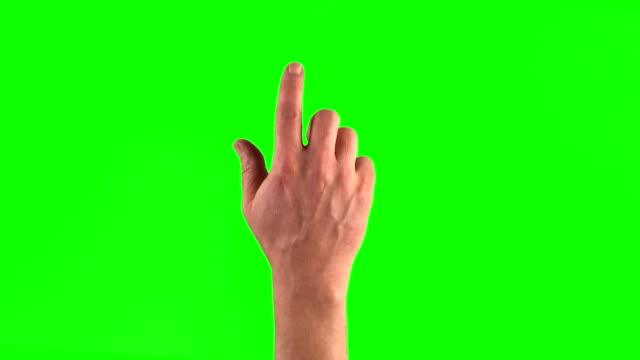 18 touchscreen gestures in 3840×2160. Set of hand gestures. video