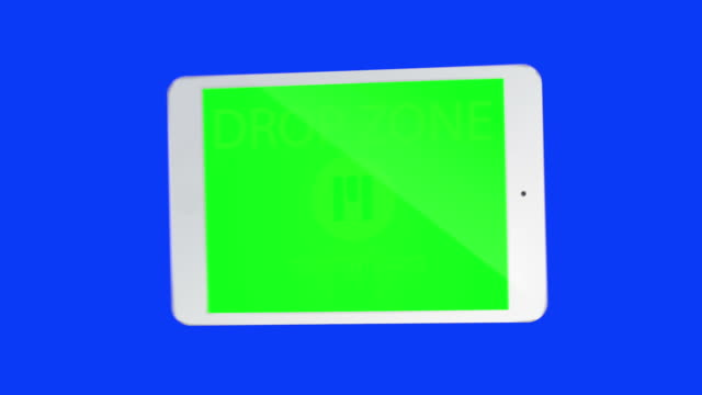 Touchscreen tablet gestures with chroma keys. HD video