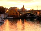 Tour Boat Passing Under Bridge on Guadalquivir River Seville Spain video