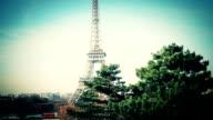 Tour Eiffel vidéo aérienne paris video
