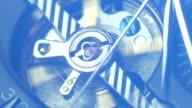 Tourbillon close up on black dial elegant timepiece video
