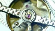 Tourbillon close up on white dial video