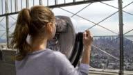 Tourist admiring view of Manhattan NYC video