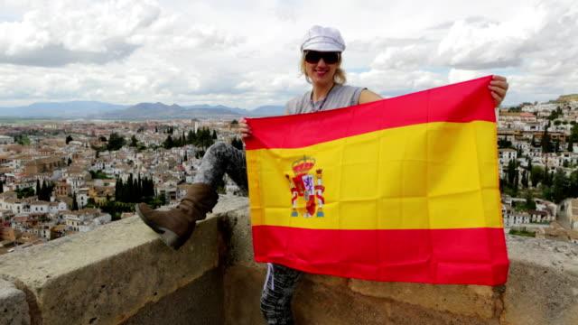 Tourist at Alhambra Granada video