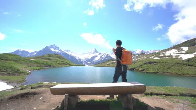 Tourist at Bachalpsee-First Grindelwald Switzerland video