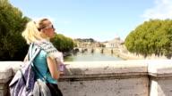 Tourist girl in Rome (HD) video