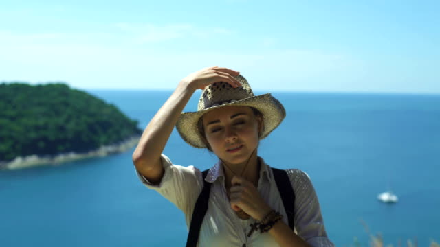 Tourist Girl Traveling Along Asia, Active Lifestyle Concept video