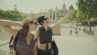 Tourist girls in Barcelona, Spain video