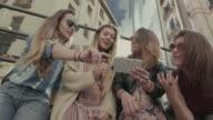 Tourist girls in Madrid video