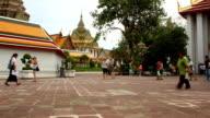 Tourist Pedestrian Travel Temple Famous Place,Time lapse video