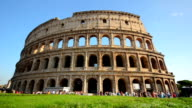 Tourist visiting ancient Colosseum at Rome video