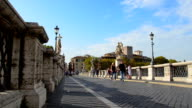 Tourist visiting Castel Sant'angelo and Berninis statue, Rome, Italy video