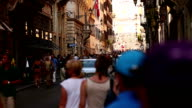 Tourist Walking on the street of Rome video