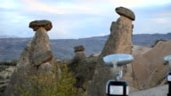 Tourist watching cave house Famous city  Cappadocia in Turkey video