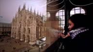 Tourist watching Duomo of Milan video