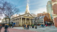 Tourists at Faneuil Hall and Quincy Market video