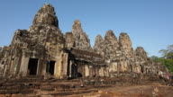 Tourists Entering the Temple of Bayon at Angkor, Siem Reap, Cambodia video