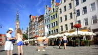 Tourists in Gdansk video