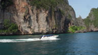 Tourists on a boat at PhiPhi Don Island waters video