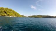 Tourists on a boat tour, Mljet island, Croatia video