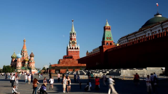 Tourists on Red Square. video