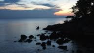 Tourists Paddling on Kayak at Sunset in Beautiful Perhentian Island, Malaysia video