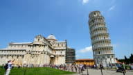 Tourists visiting Pisa in Italy video