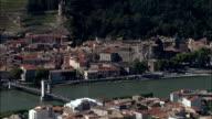 Tournon-Sur-Rhone  - Aerial View - Rhône-Alpes, Ardèche, Arrondissement de Tournon, France video