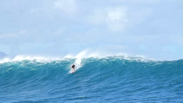 Tow In Surfing Big Wave Slow Motion video