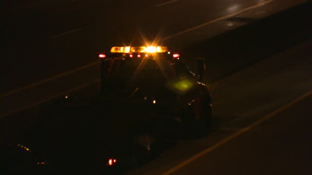 Tow Truck on highway. video