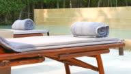Towel on bed pool video