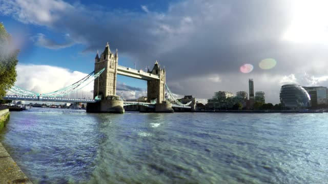 Tower Bridge and Thames River, London, Time Lapse video