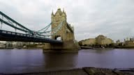 Tower Bridge and Thames River, London Time Lapse video