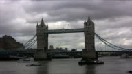 Tower Bridge and Thames River, London (HD) video