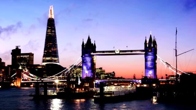 Tower Bridge and the Shard, London video