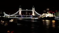 HD: Tower Bridge At Night video